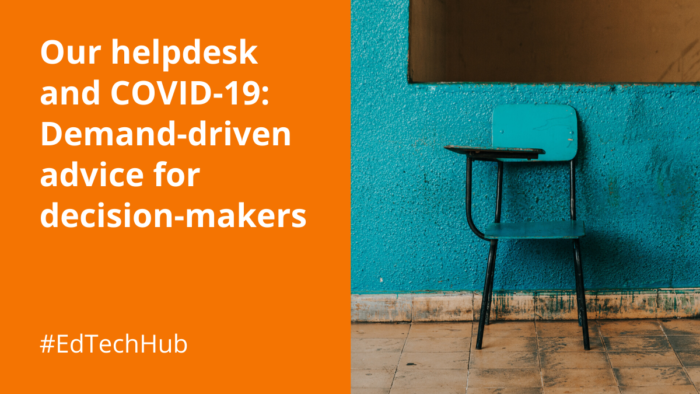 Our helpdesk and COVID-19: Demand-driven advice for decision-makers